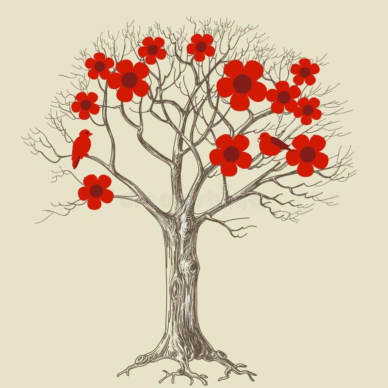 Árvore de amor ilustração royalty free
