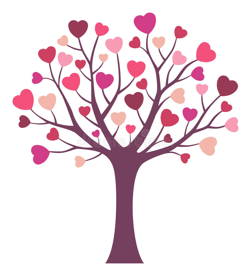 Árvore de amor ilustração do vetor