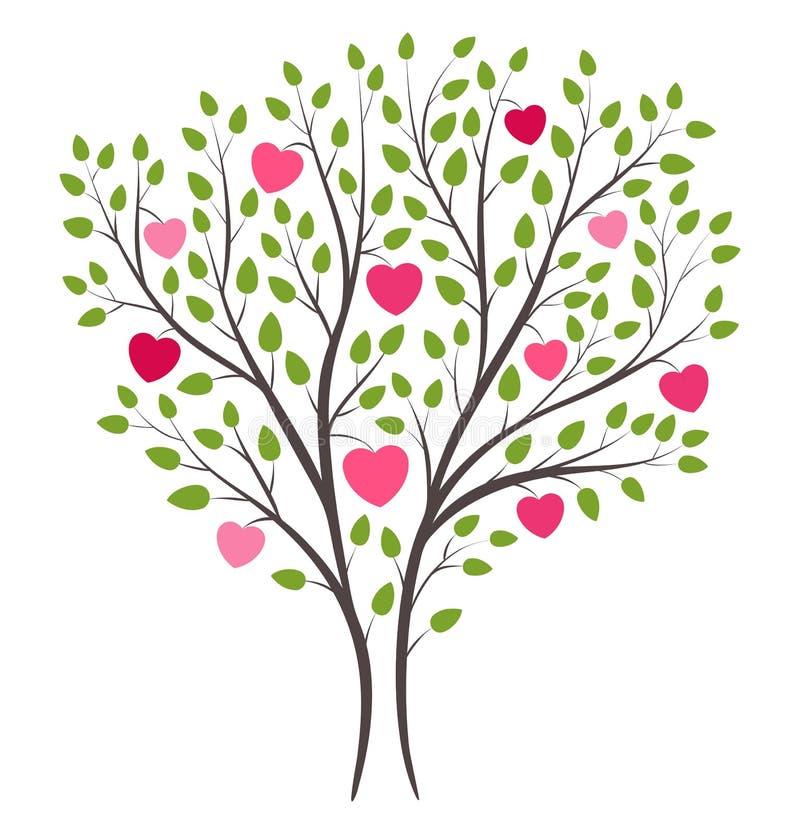 Árvore de amor na flor ilustração do vetor