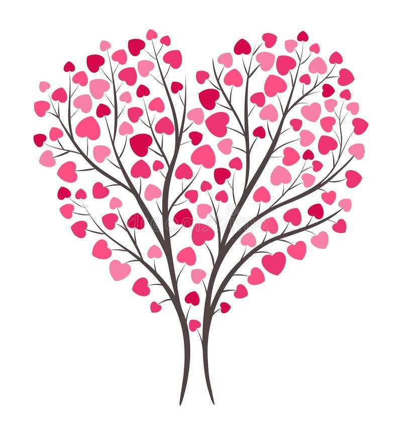 Árvore de amor na flor ilustração royalty free
