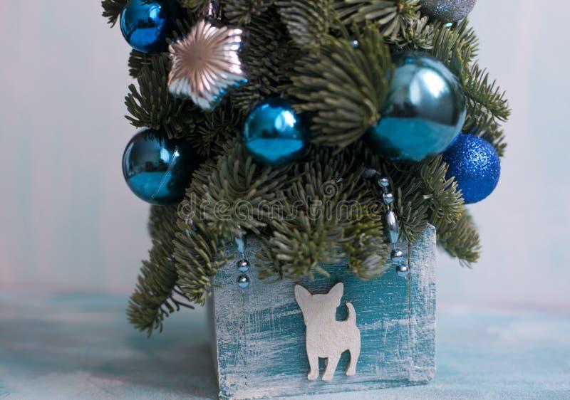 Árvore de ano novo e de Natal de Nobilis imagens de stock royalty free