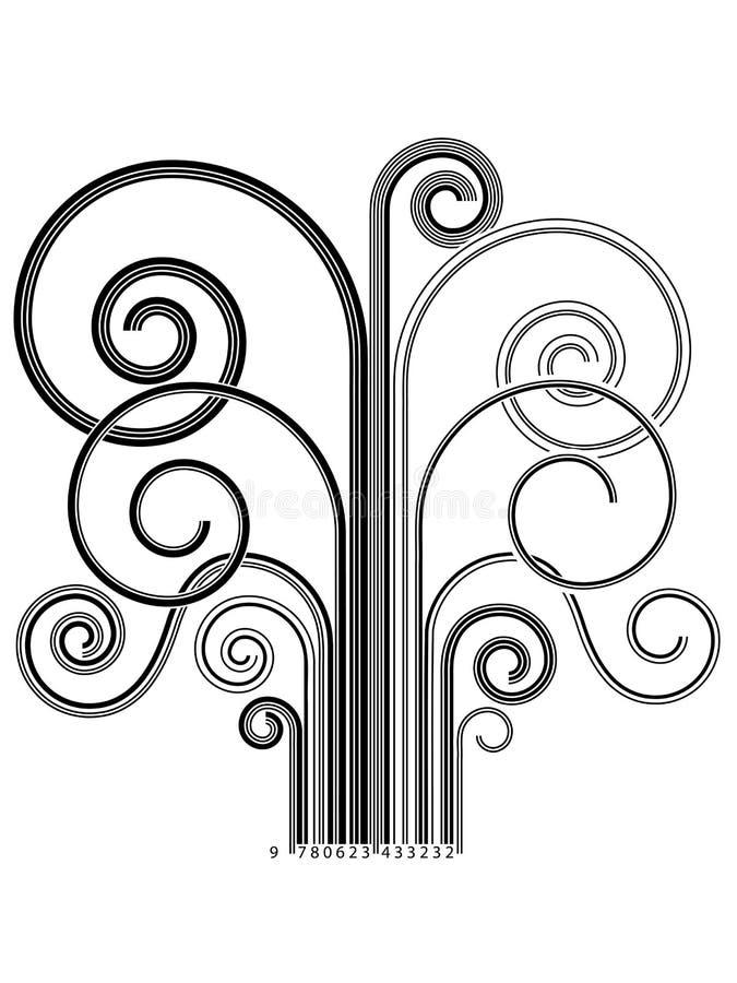 Árvore de código da barra ilustração do vetor
