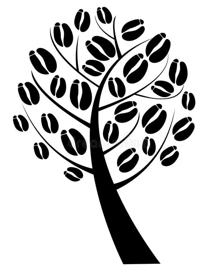 Árvore de café ilustração do vetor
