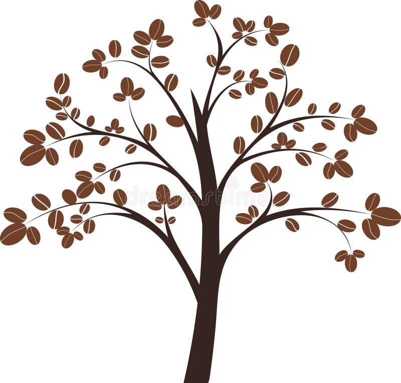 Árvore de café ilustração royalty free
