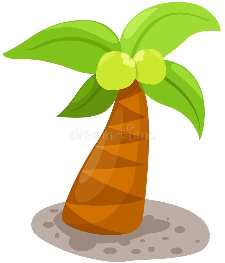 Árvore de coco ilustração do vetor