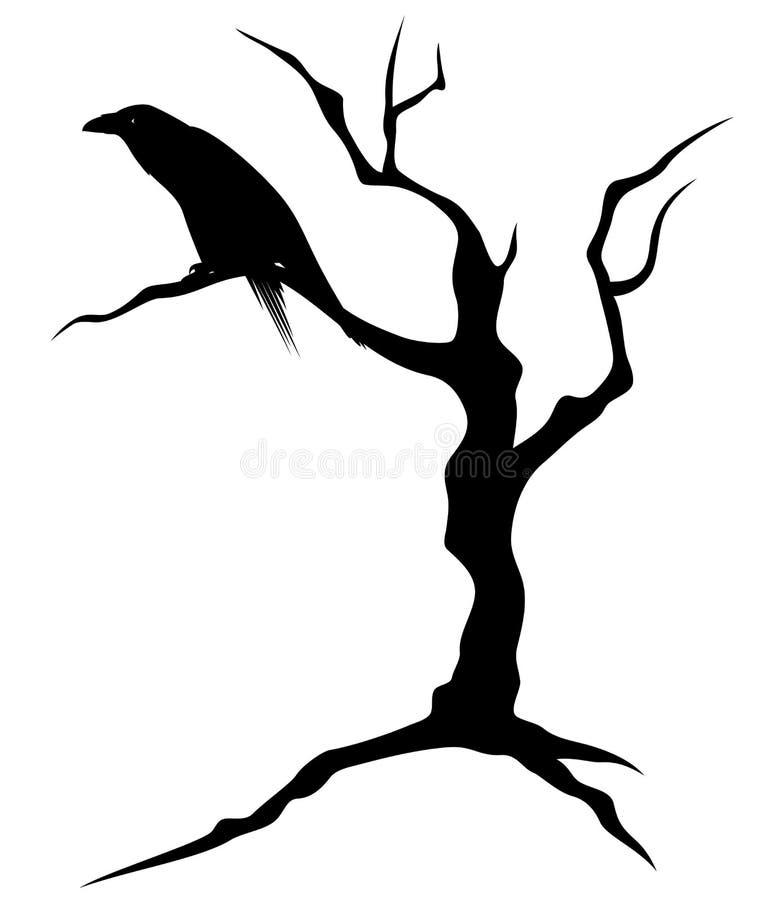 Árvore de Dia das Bruxas ilustração do vetor