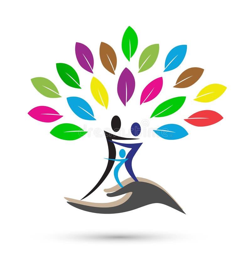 Árvore de família abstrata ilustração royalty free