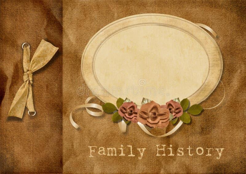 Árvore de família do álbum do vintage ilustração do vetor