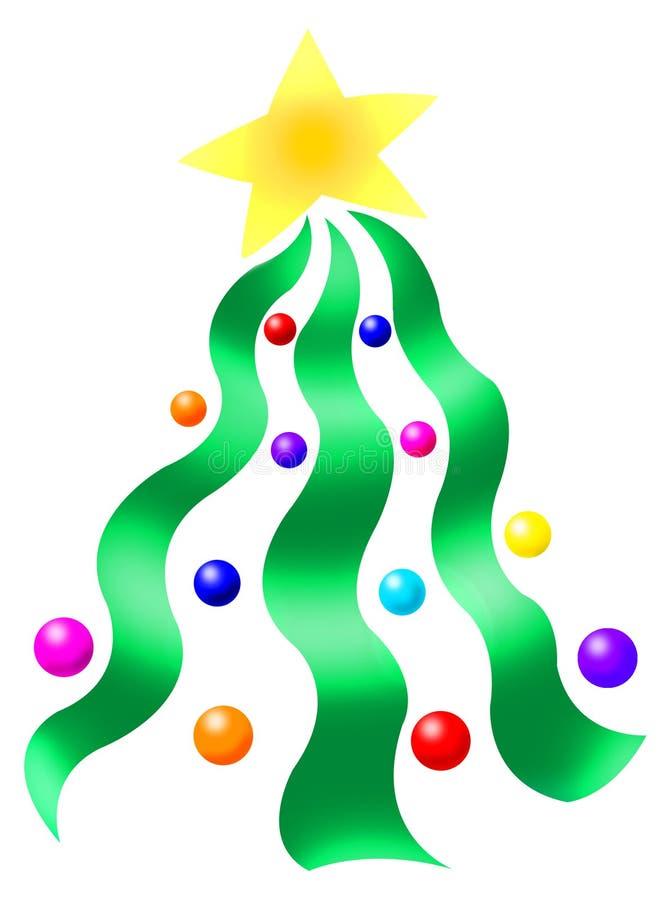 Árvore de fita do Natal ilustração royalty free