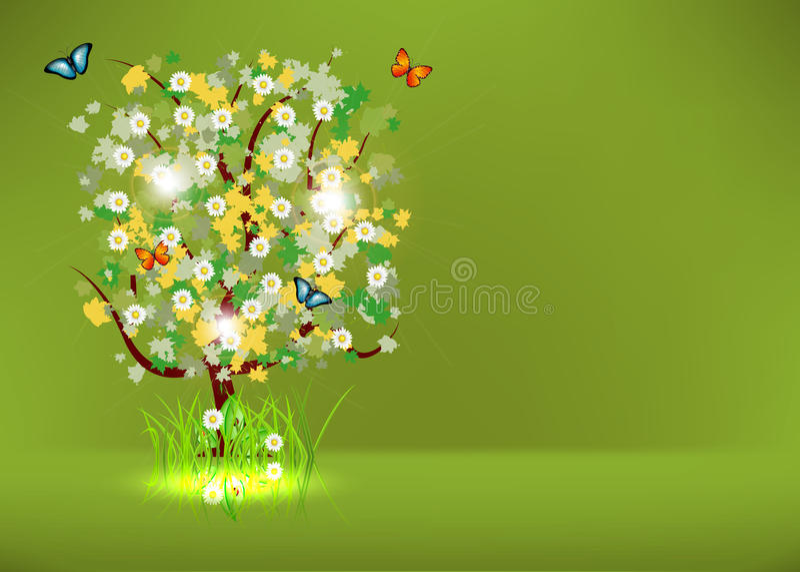Árvore de florescência da mola ilustração do vetor
