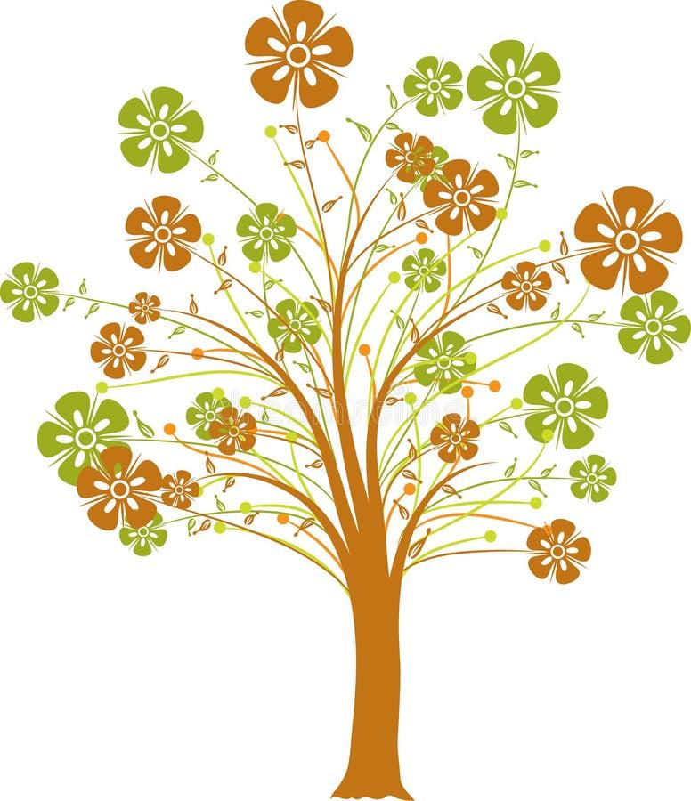 Árvore de florescência, vetor ilustração do vetor