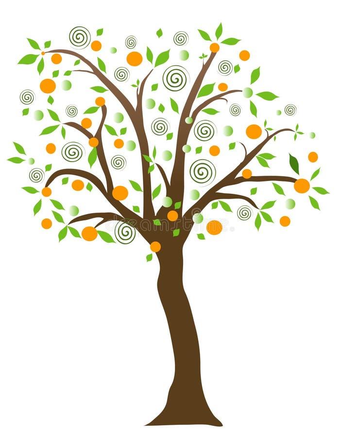 Árvore de fruta ilustração do vetor