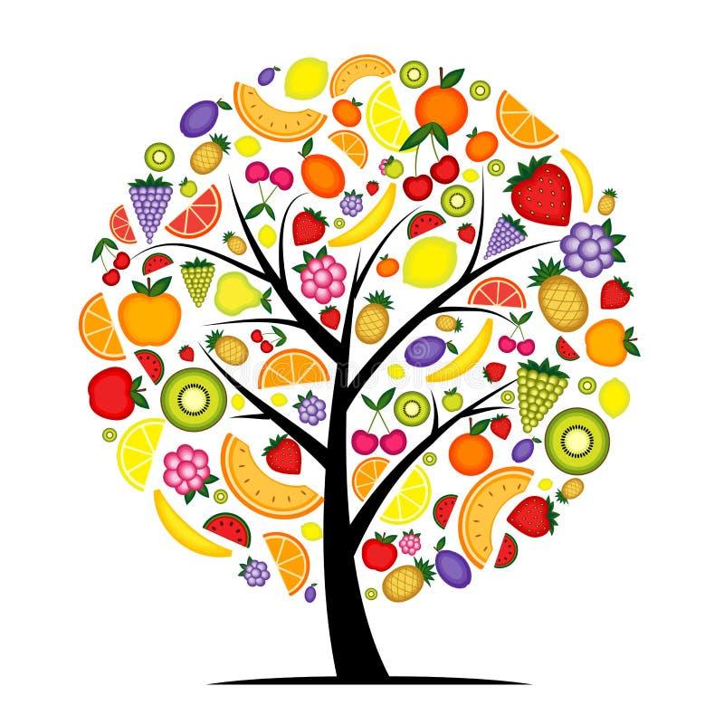 Árvore de fruta da energia para seu projeto ilustração do vetor