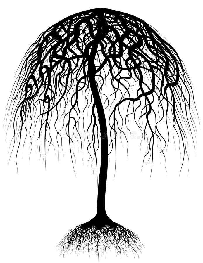 Árvore de guarda-chuva ilustração do vetor