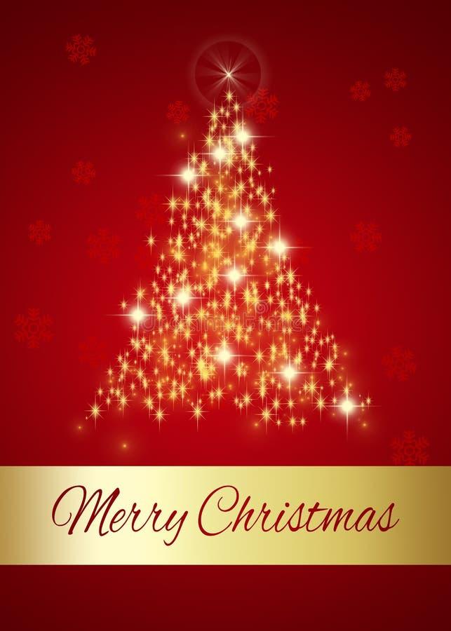 Árvore de incandescência do Feliz Natal ilustração stock