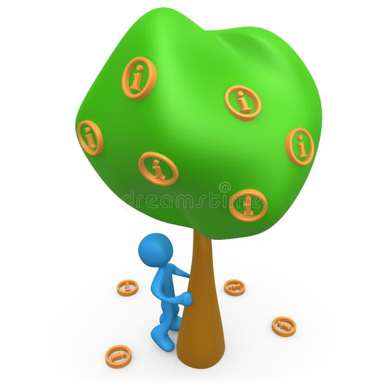 Árvore de informação ilustração do vetor