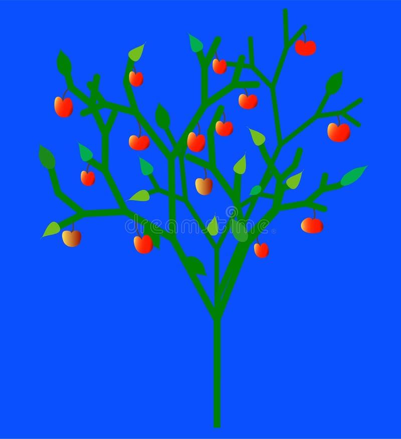 Árvore de maçã da fruta ilustração royalty free