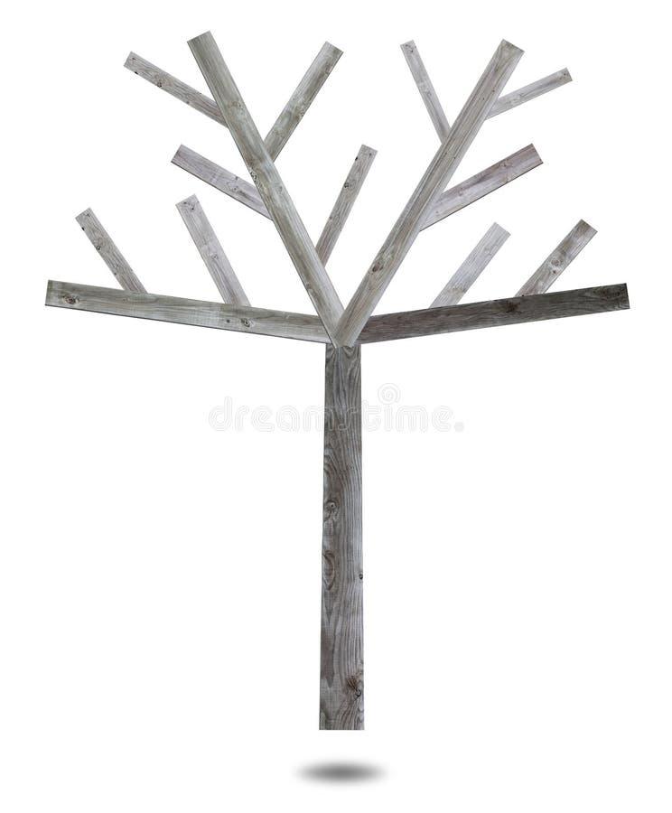 Árvore de madeira feita do splat ilustração royalty free