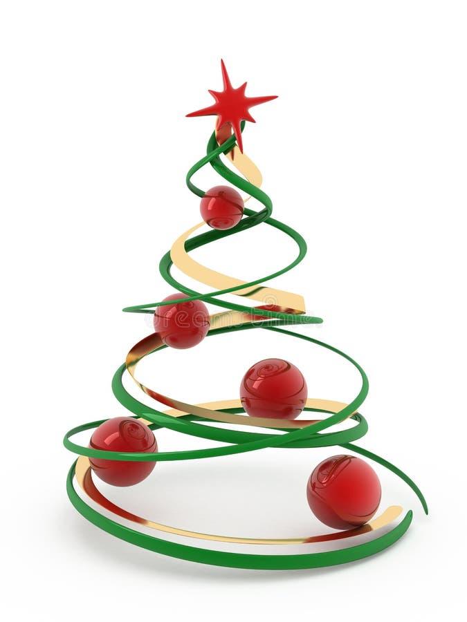 Árvore de Natal. ilustração stock