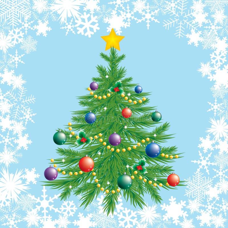 Árvore de Natal. ilustração do vetor