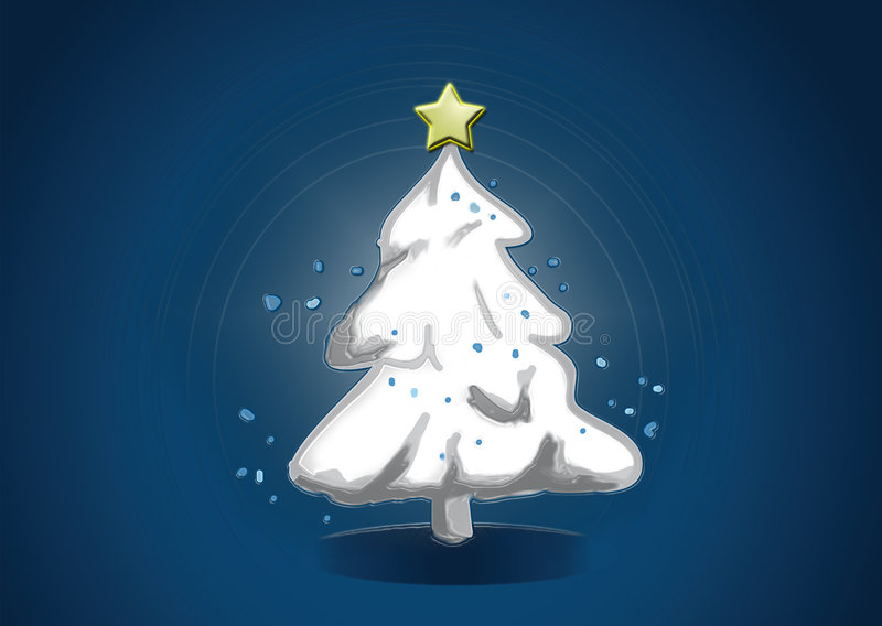 Árvore de Natal ilustração royalty free