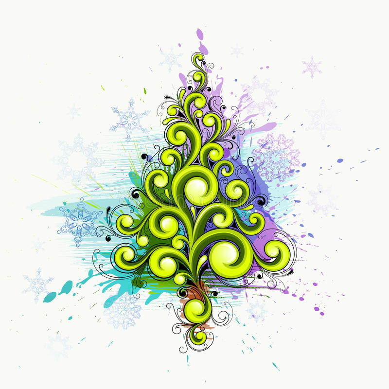 Download Árvore de Natal abstrata ilustração do vetor. Ilustração de abeto - 16872421