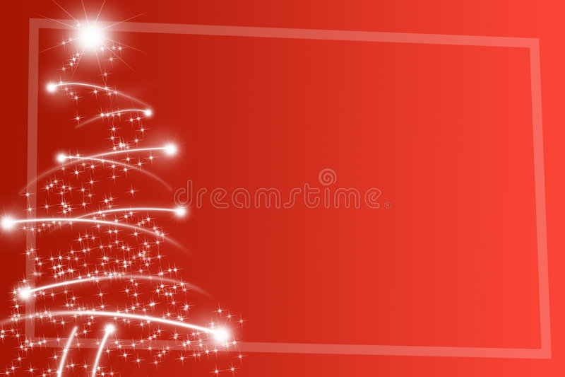Árvore de Natal abstrata ilustração royalty free