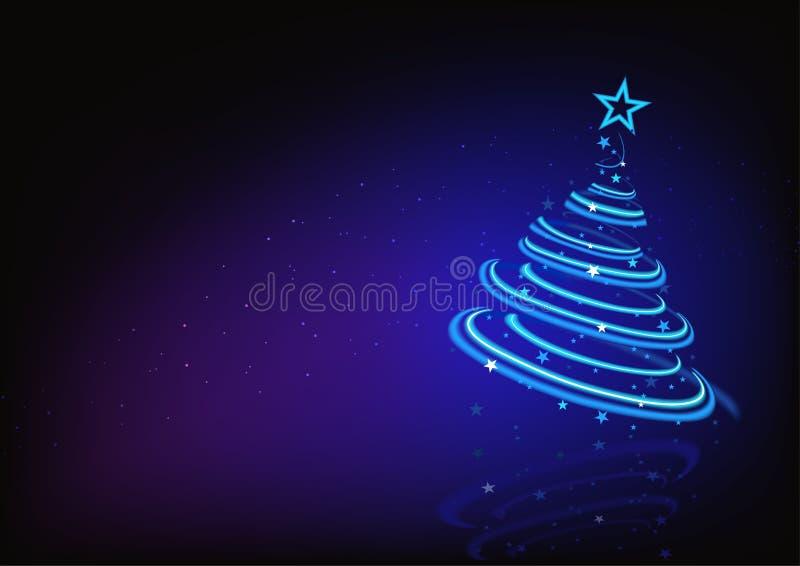 Árvore de Natal abstrata azul ilustração stock