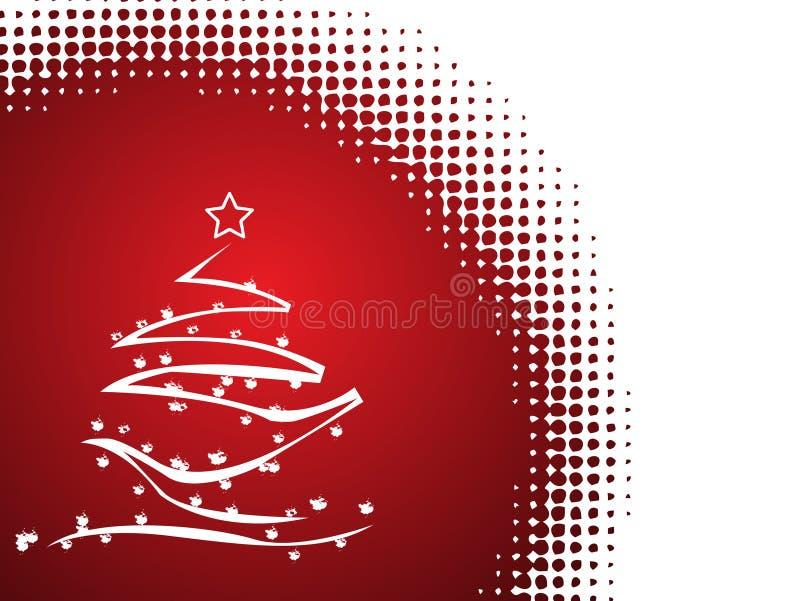 Árvore de Natal abstrata do vetor ilustração royalty free