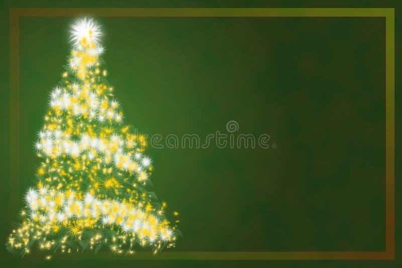 Árvore de Natal abstrata no fundo verde ilustração royalty free