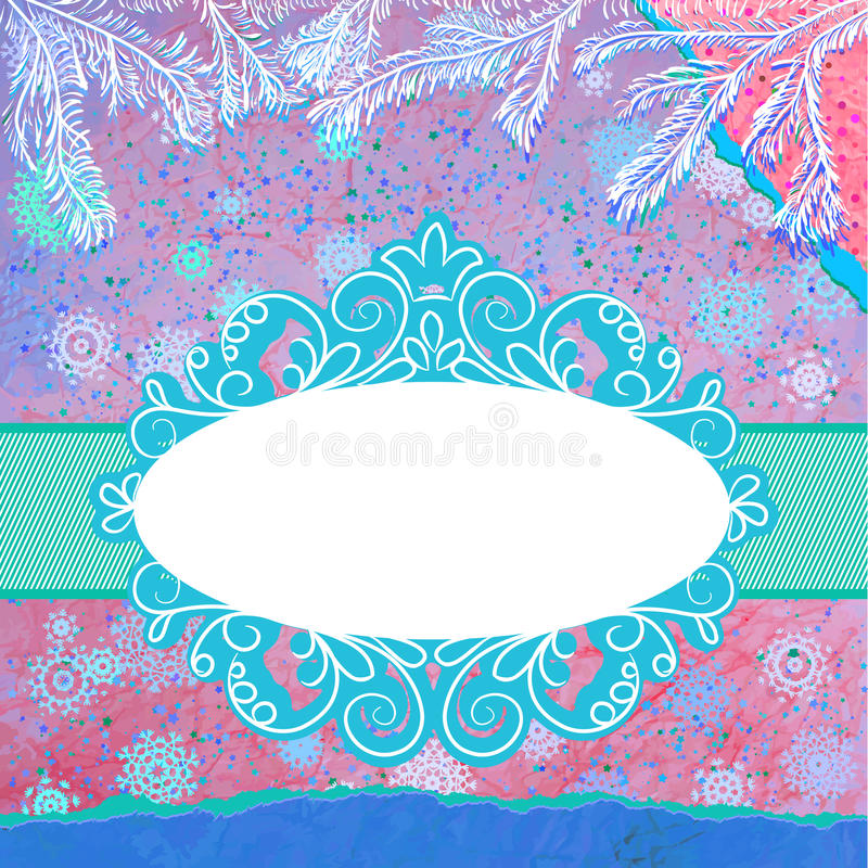 Árvore De Natal Azul Decorada. EPS 8 Imagem de Stock