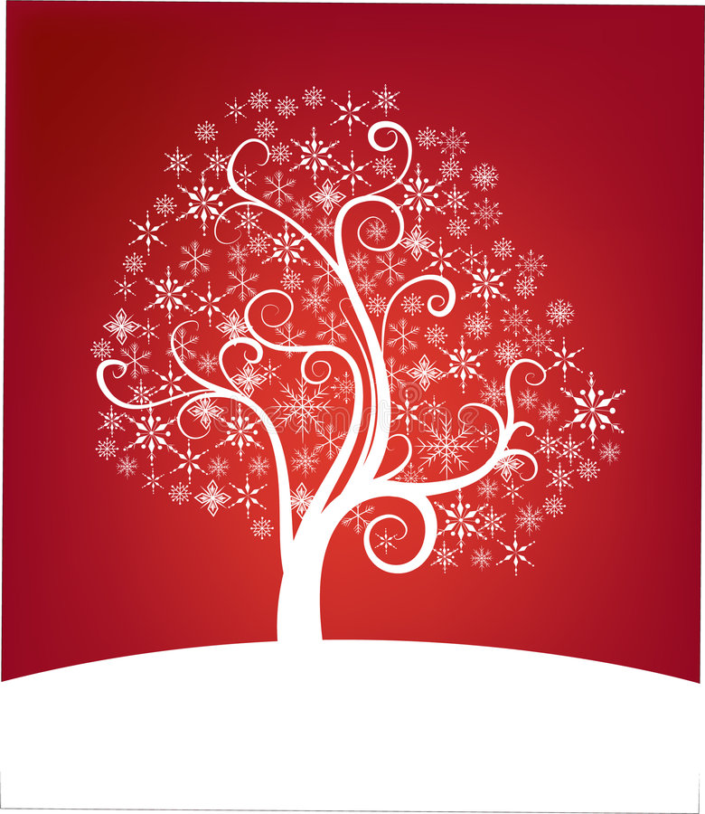 Árvore de Natal bonita ilustração do vetor