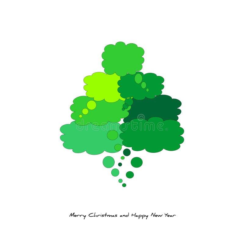 Árvore de Natal? com banda desenhada ilustração royalty free