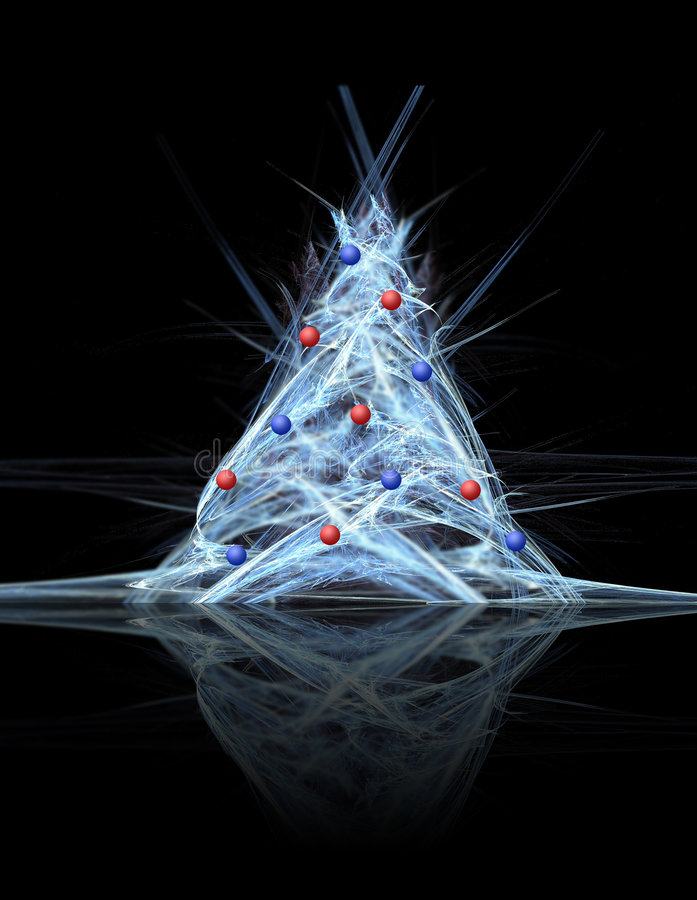 Árvore de Natal com decoração ilustração stock