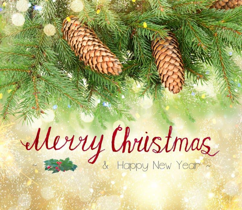 Árvore de Natal com luzes fotos de stock royalty free