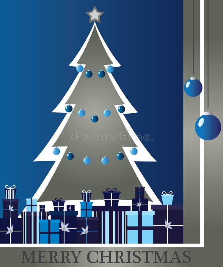 Árvore de Natal com presentes ilustração stock