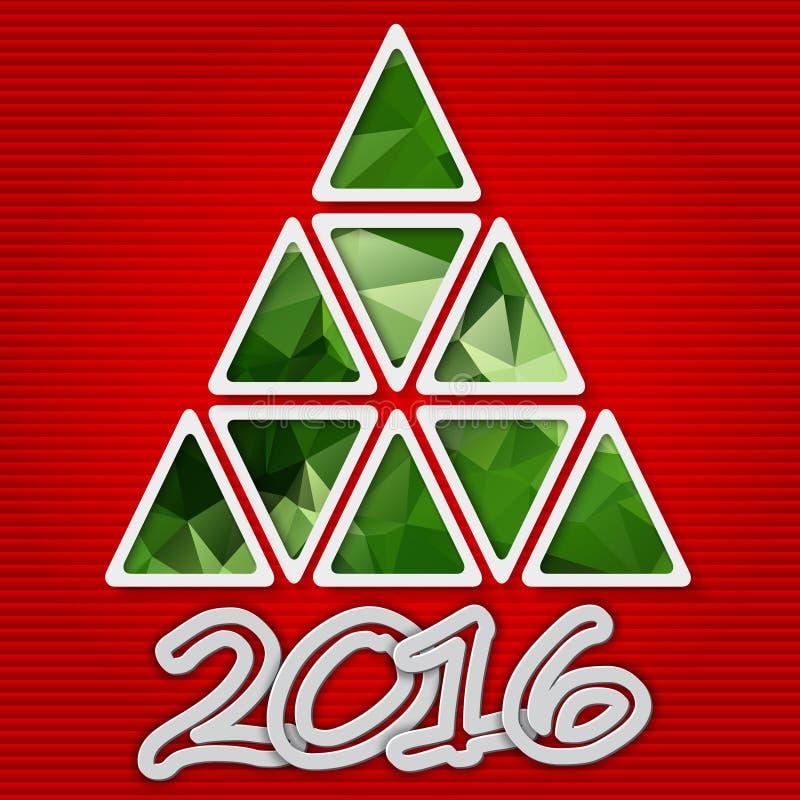 Árvore de Natal com sombra ilustração do vetor