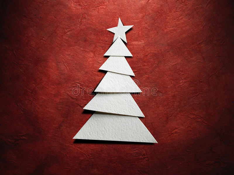 Árvore de Natal cortada do papel foto de stock