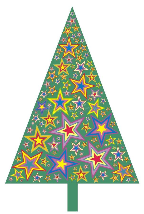 Árvore de Natal da estrela ilustração stock