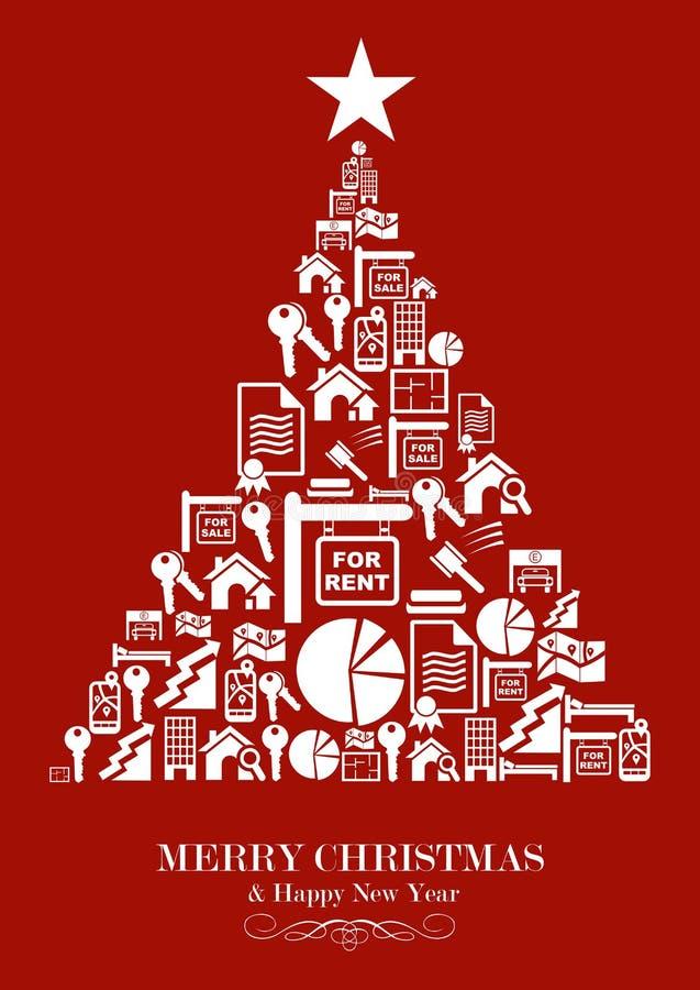 Árvore de Natal da indústria de bens imobiliários