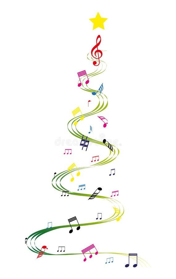 Árvore de Natal da música ilustração royalty free