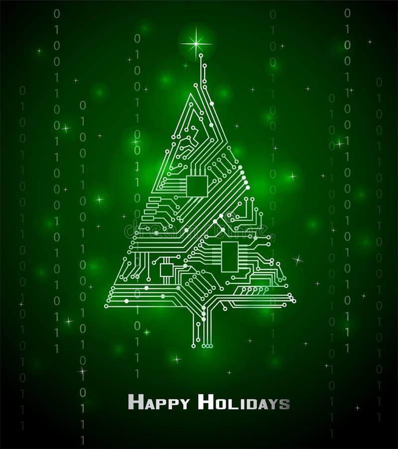 árvore de Natal da Olá!-tecnologia ilustração do vetor