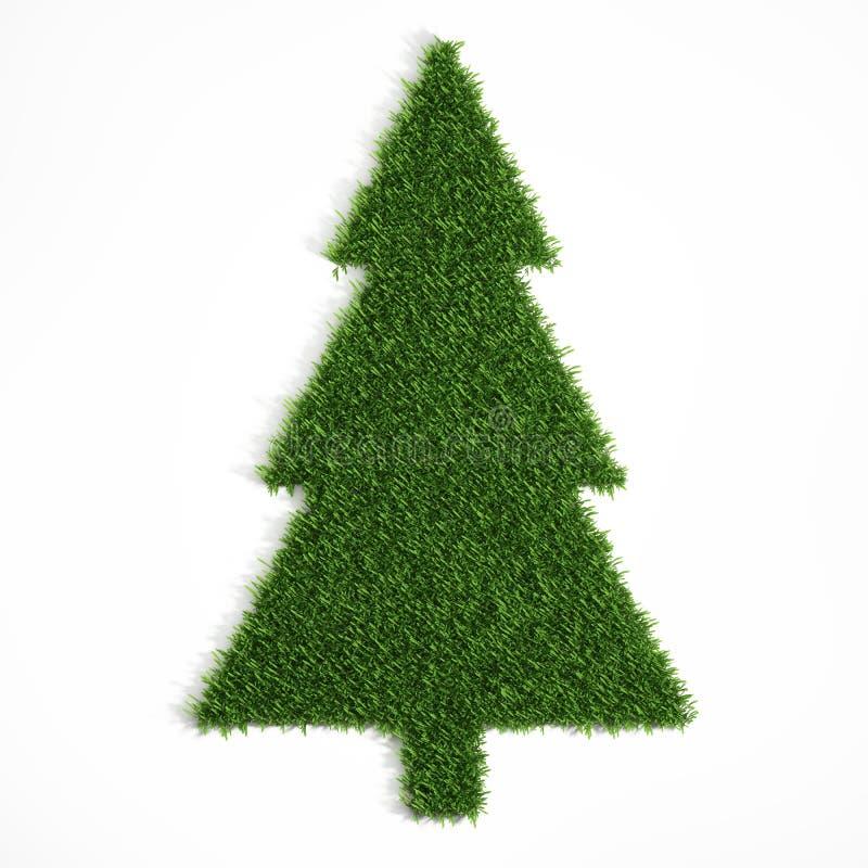 Árvore de Natal dada forma da grama ilustração royalty free
