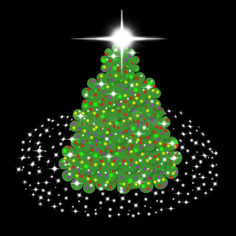 Árvore de Natal das crianças ilustração royalty free