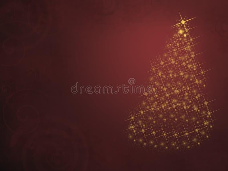 Árvore de Natal das luzes ilustração stock