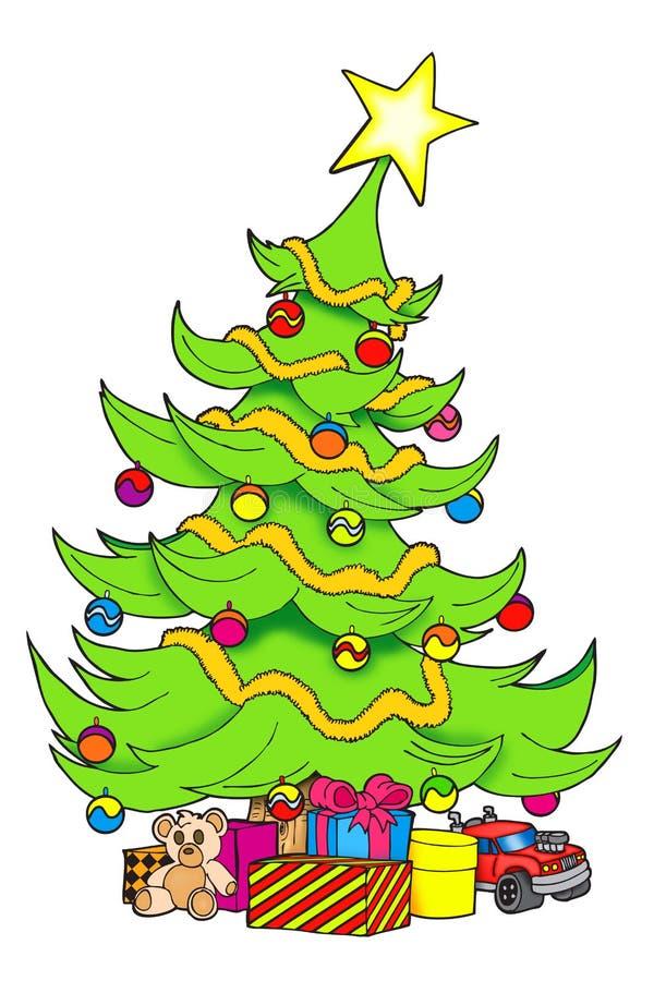 Árvore de Natal de Beatifull ilustração royalty free