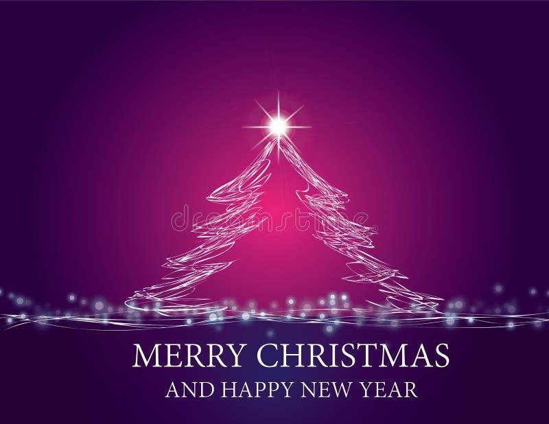 Árvore de Natal de brilho ilustração stock