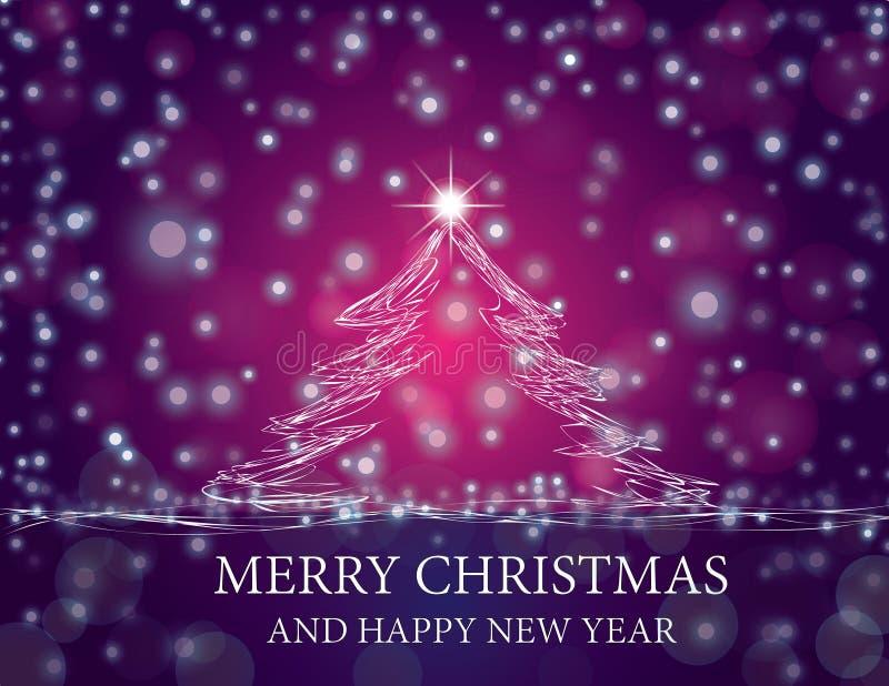 Árvore de Natal de brilho ilustração do vetor