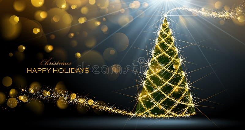 Árvore de Natal de brilho ilustração royalty free