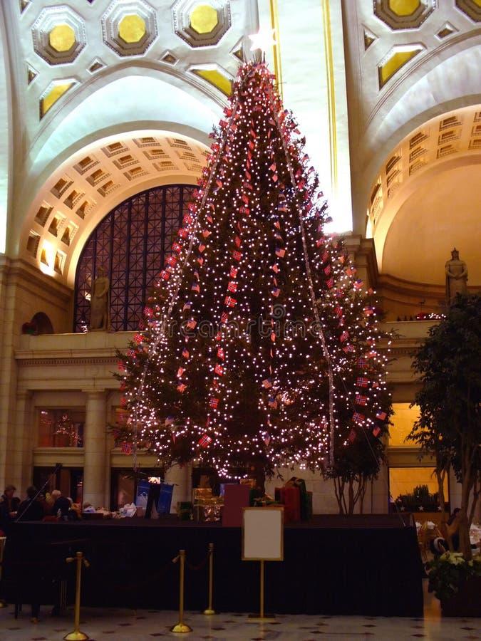 Árvore de Natal de Noruega imagem de stock